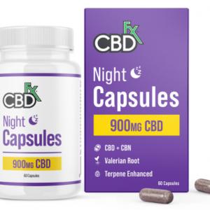 CBDfx CBD + CBN Night Capsules For Sleep Image